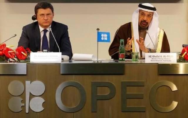 وزيرا الطاقة الروسي والسعودي في لقاء سابق