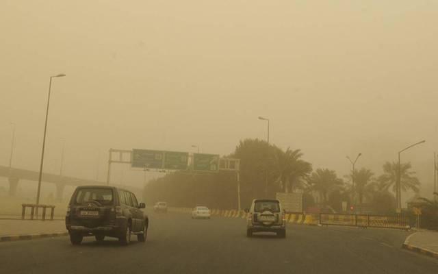جانب من العواصف التي تتعرض لها الكويت