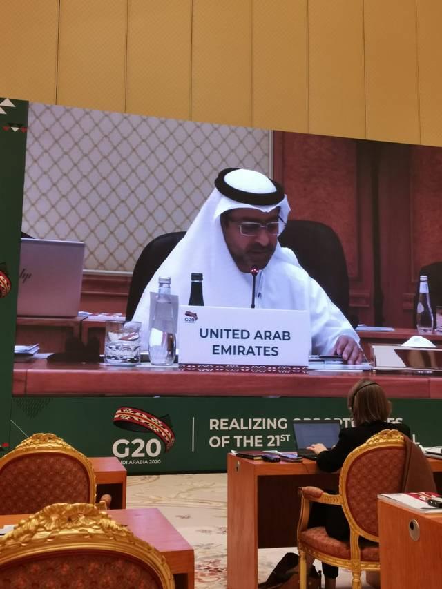 جانب من مشاركة الوفد الإماراتي في اجتماعات مجموعة العشرين