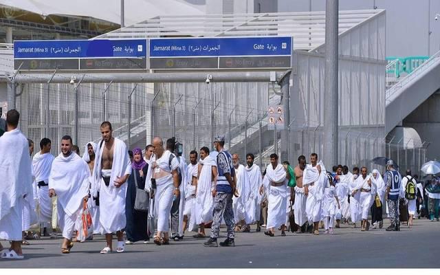 تنظيم الحجاج في منطقة رمي الجمرات خلال موسم حج العام الماضي