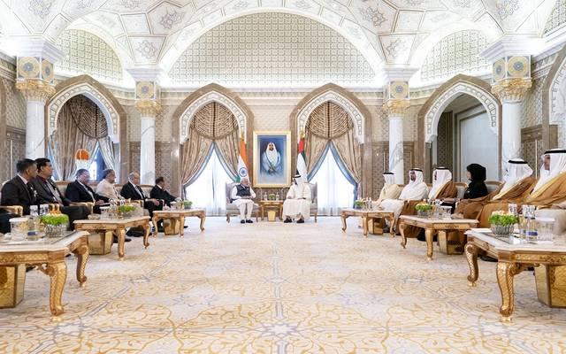 على هامش لقاء ولي عهد أبوظبي ورئيس وزراء جمهورية الهند