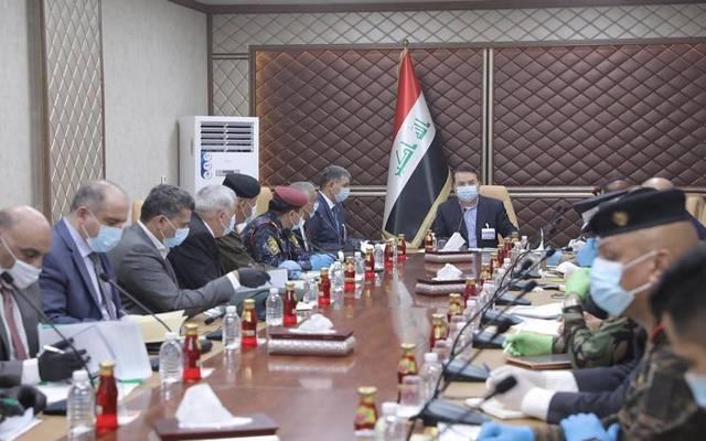 وزير الداخلية العراقي، ياسين طاهر الياسري، يترأس الاجتماع الدوري لخلية الأزمة المشكلة في الوزارة لمواجهة فيروس كورونا