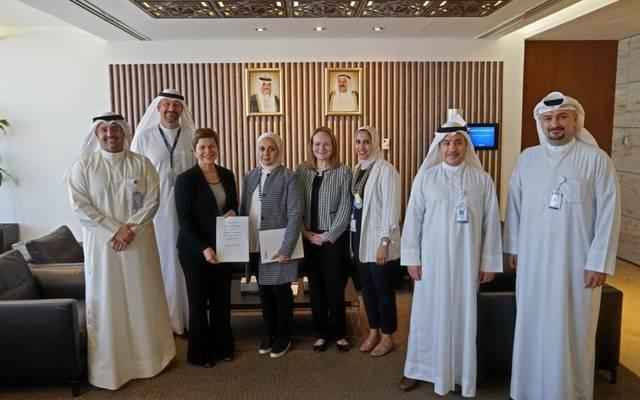 صورة تذكارية خلال توقيع الاتفاقية