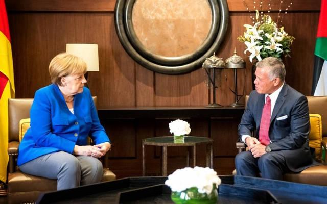 لقاء سابق جمع الملك عبد الله الثاني المستشارة الألمانية أنجيلا ميركل