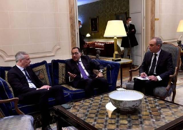 جانب من اللقاء المصري الفرنسي