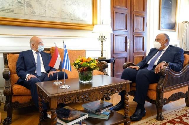 وزيرا خارجية مصر واليونان يؤكدان رفضهما التصرفات التي تزعزع استقرار شرق المتوسط