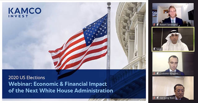 The webinar discussed the expected economic impact of the next administration