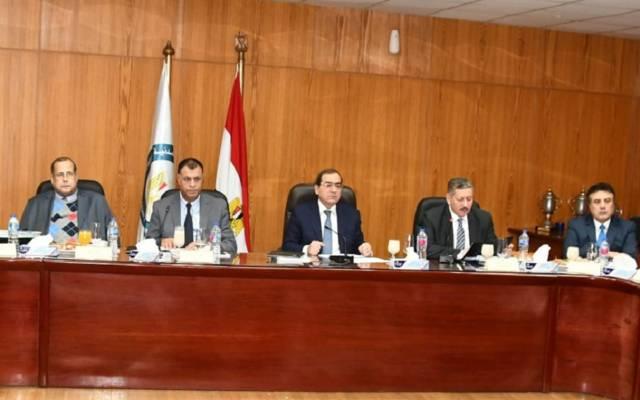 وزير البترول طارق الملا خلال الجمعية العامة لشركة ميدور