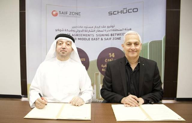 SAIF Zone has signed a lease contract with Schüco