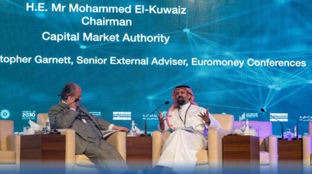 """رئيس مجلس هيئة السوق المالية """"محمد القويز"""" خلال مؤتمر يوروموني السعودية اليوم"""