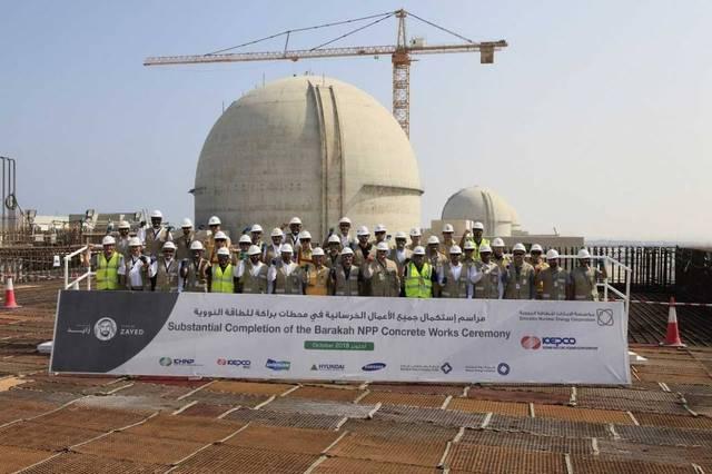 صورة لإحدى محطات مشروع براكة للطاقة النووية السلمية