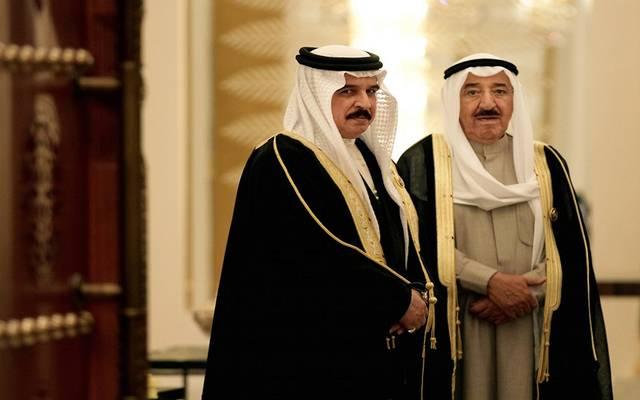 ملك البحرين وأمير الكويت