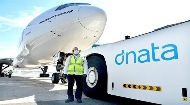 إحدى الشاحنات التابعة لشركة دناتا