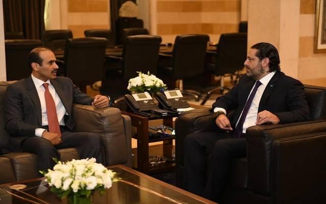 خلال اجتماع وزير الطاقة القطري مع رئيس الوزراء اللبناني
