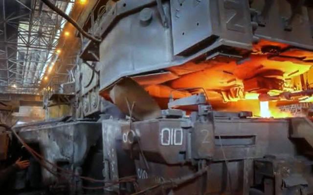 إنتاج الحديد والصلب بالشركة
