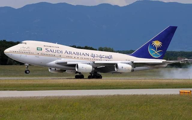 طائرة تابعة للخطوط السعودية