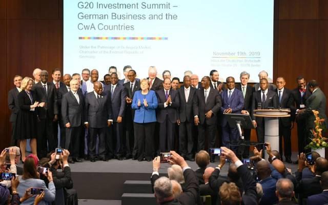 عبد الفتاح السيسي خلال القمة غير الرسمية للاستثمار في أفريقيا بألمانيا