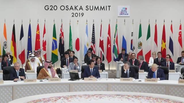 قمة مجموعة العشرين المنعقدة في اليابان لعام 2019 بحضور ولي العهد السعودي الأمير محمد بن سلمان- أرشيفية