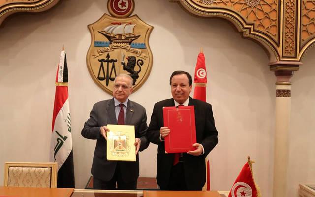 جانب من توقيع الاتفاقيات بين الدولتين
