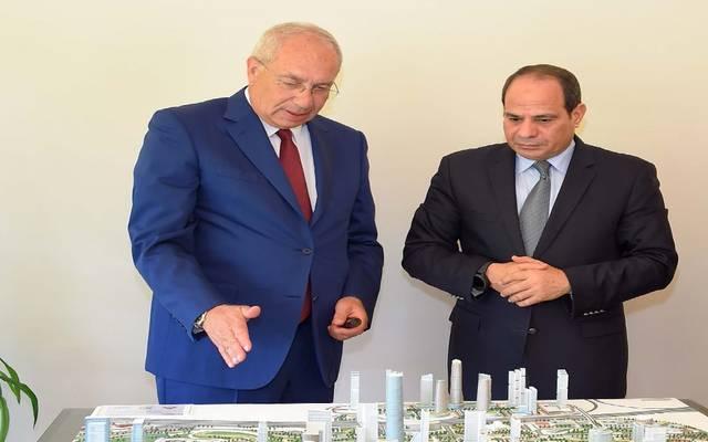 المهندس يحيى زكي يعرض تطورات مشروع العاصمة الإدارية على الرئيس السيسي في لقاء سابق