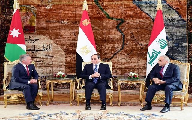 اتفاق مصر والعراق والأردن على متابعة التنسيق الاقتصادي والأمني