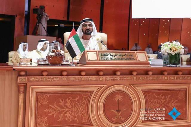صور.. محمد بن راشد خلال القمة العربية بالسعودية