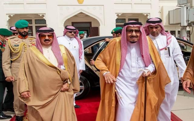 خادم الحرمين الشريفين الملك سلمان بن عبدالعزيز والملك حمد بن عيسى آل خليفة - أرشيفية