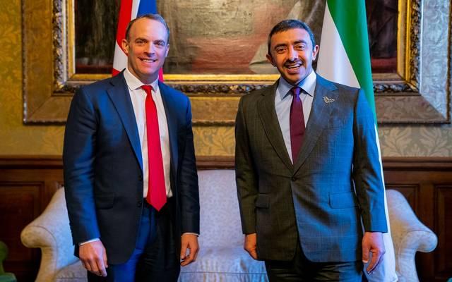 خلال لقاء الوزيرين في لندن