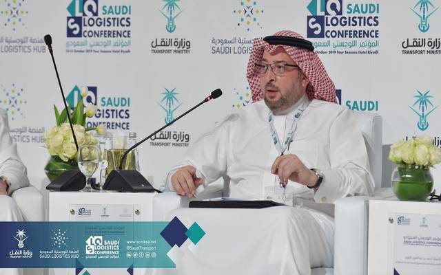 مدير نامج كفالة همام هاشم، خلال مشاركته في المنتدى اللوجستي السعودي