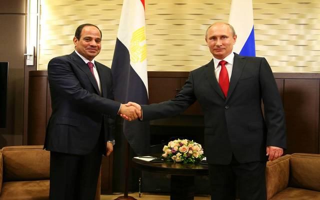 الرئيس المصري عبدالفتاح السيسي ونظيره الروسي