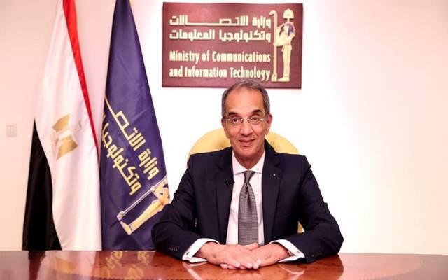 عمرو طلعت وزير الاتصالات وتكنولوجيا المعلومات - أرشيفية