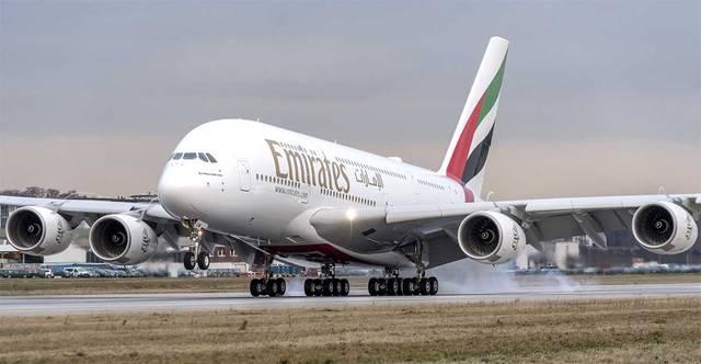 إحدى طائرات مجموعة طيران الإمارات