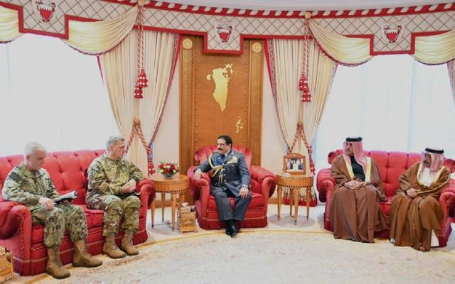 ملك البحرين خلال لقاء مارك ميلي رئيس هيئة الأركان المشتركة بالولايات المتحدة الأمريكية