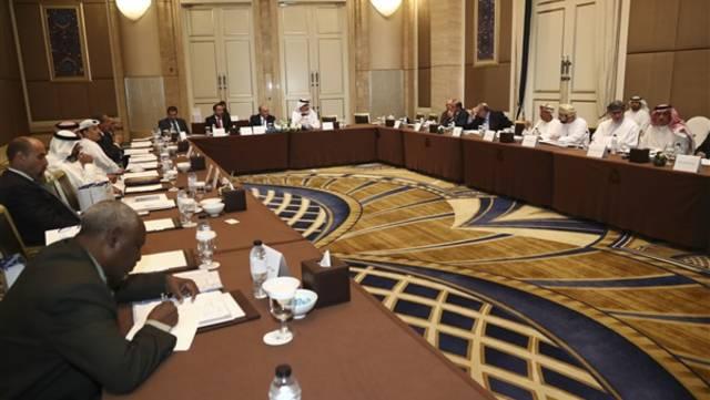أعضاء اتحاد البورصات العربية أُثناء مؤتمر سابق، الصورة أرشيفية