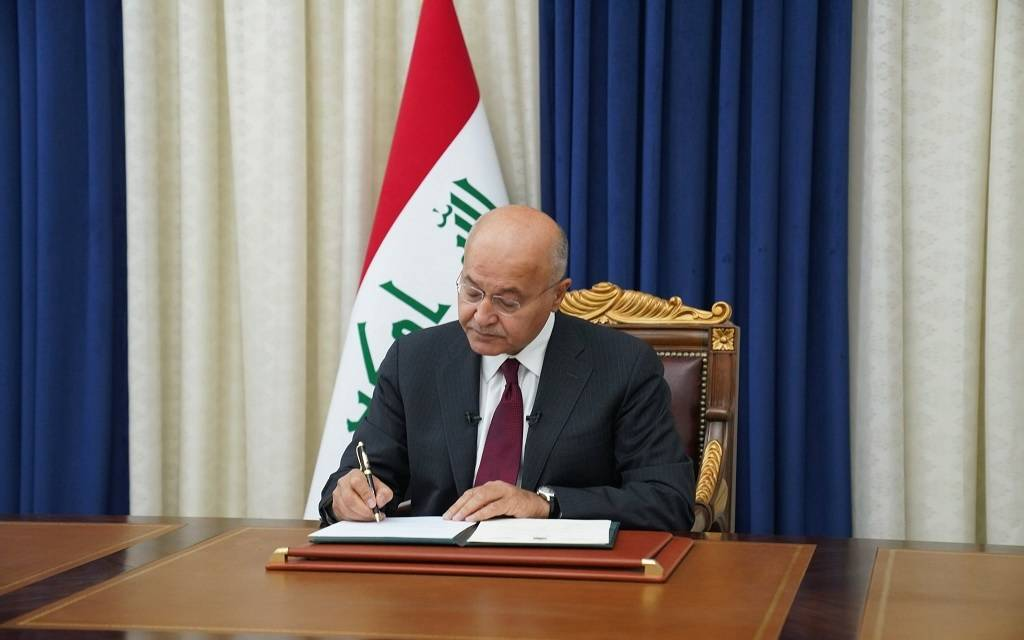 The Iraqi President signs a decree to hold early parliamentary elections on October 10 1024