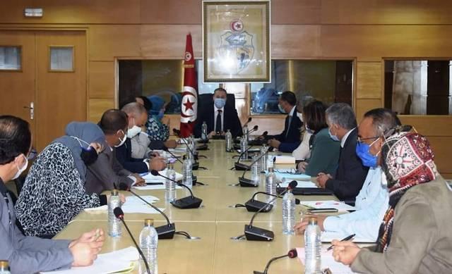 جانب من اجتماع رئيس ديوان وزير التجارة بممثلي الجهات الاقتصادية والمالية