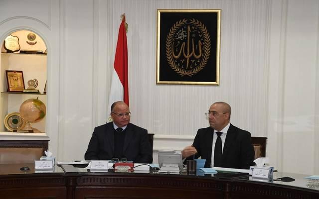 وزير الإسكان والمرافق والمجتمعات العمرانية عاصم الجزار، مع محافظ القاهرة خالد عبدالعال