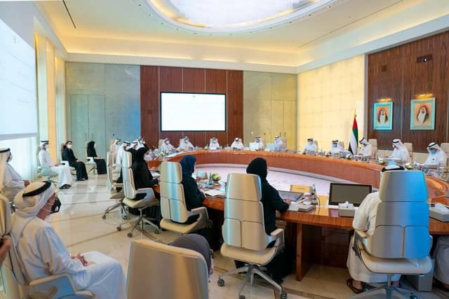 مجلس الوزراء الإماراتي خلال اجتماع اليوم