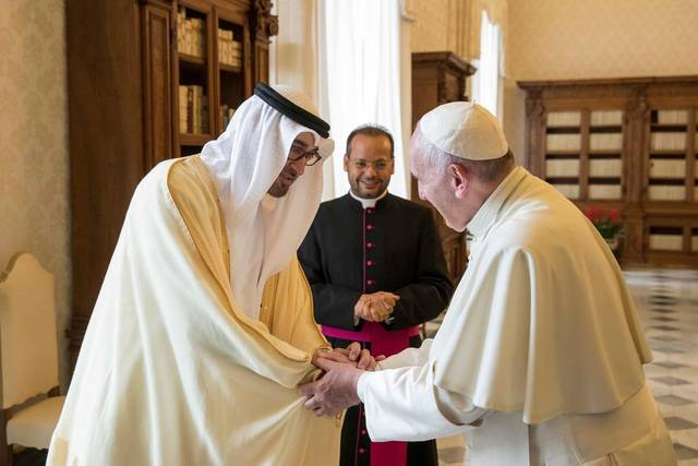 The Papal Mass will take place in Abu Dhabi at the Zayed Stadium