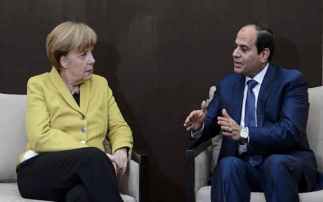 الرئيس السيسي خلال لقاء سابق مع المستشارة الألمانية