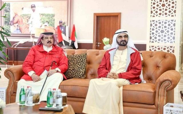 العاهل البحريني والشيخ محمد بن راشد