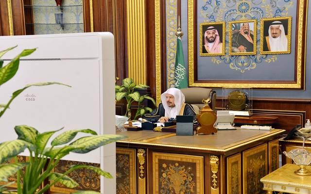جانب من جلسة مجلس الشورى السعودي عبر الاتصال المرئي