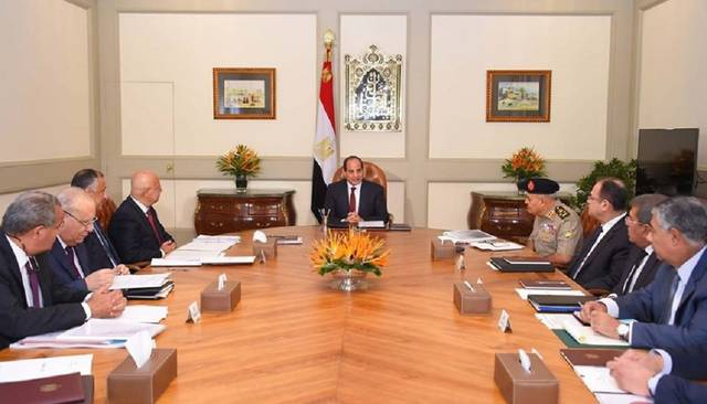 الرئيس السيسي خلال اجتماعه مع الحكومة