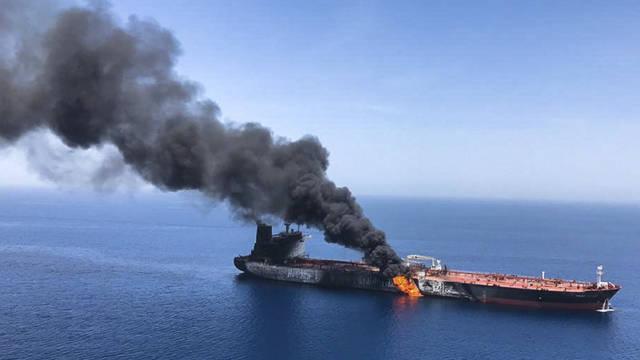 أحد ناقلات النفط المتضررة بالحوادث الأخيرة