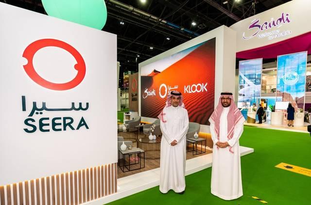 جانب من توقيع الاتفاقية خلال معرض سوق السفر العربي 2021 بدبي