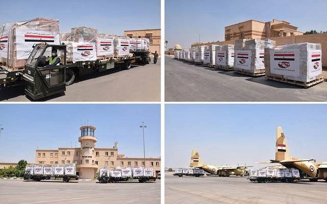 مصر ترسل طائرتين محملتين بالأدوية والمستلزمات الطبية إلى لبنان