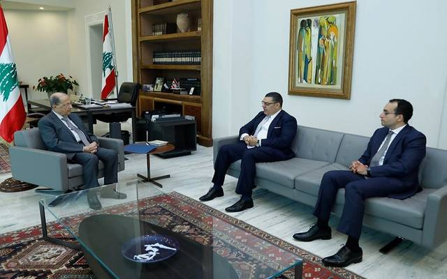 الرئيس اللبناني لدى تسلمه رسالة الرئيس السيسي