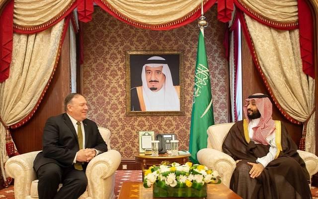 لقاء ولي العهد السعودي وزير الخارجية الأمريكي في جدة