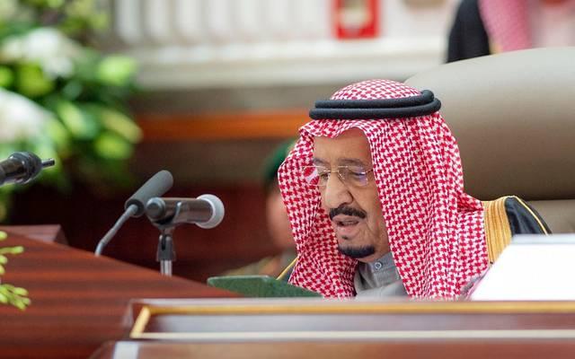 خادم الحرمين الشريفين، الملك سلمان بن عبدالعزيز آل سعود خلال الخطاب السنوي بمجلس الشورى اليوم