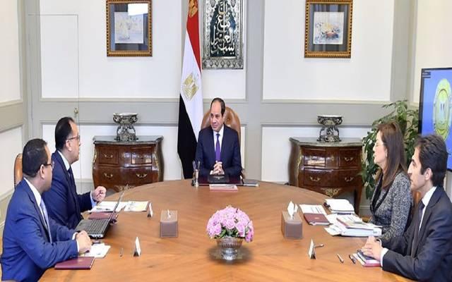 الرئيس السيسي خلال الاجتماع اليوم